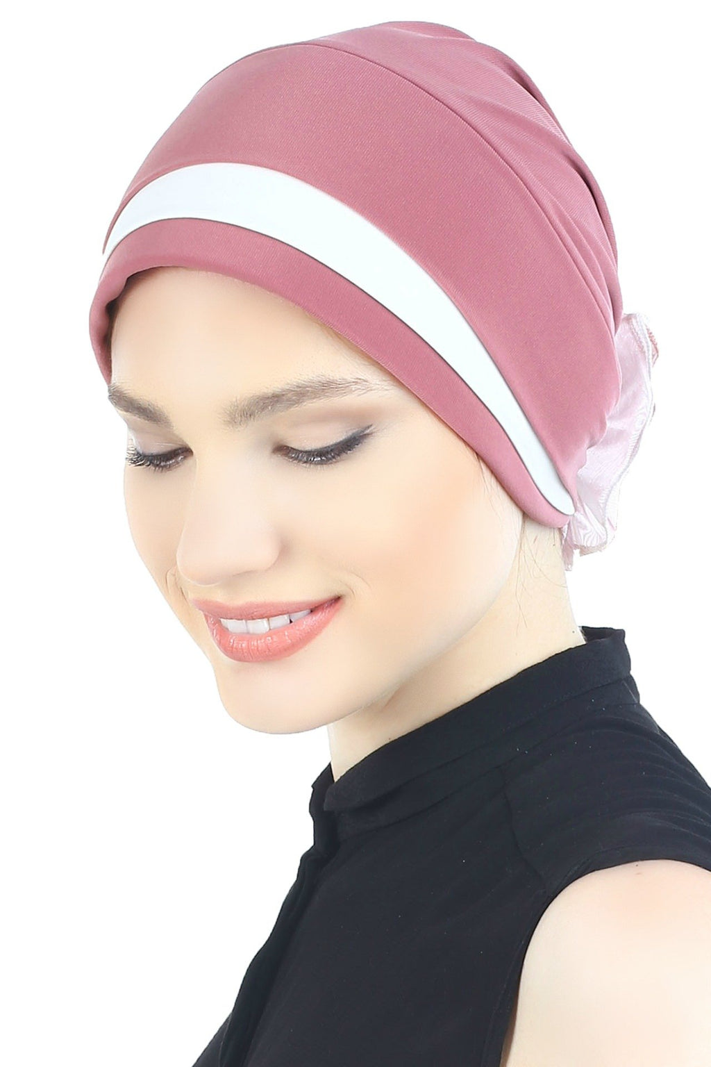 Deresina Padded hat for cancer patients paris pink cream