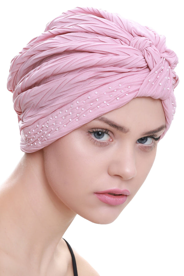 Deresina Beaded w turban for hairloss powder