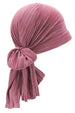 Deresina versatile plisse headwear for hair loss pink
