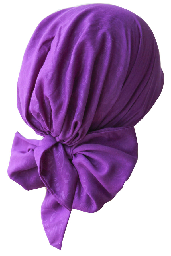 Deresina Easy tie chemo headscarf 41 purple