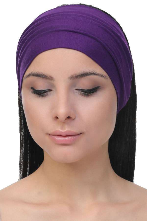 plain deresina headband purple