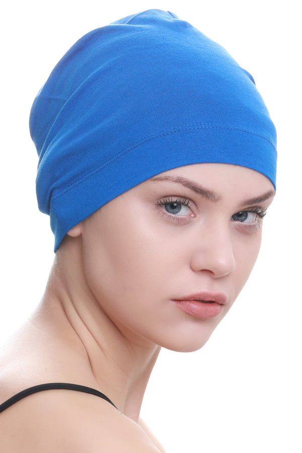 Deresina Unisex chemo sleep cap royal blue