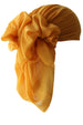 Everyday Square Head Scarf - Plain Saffron