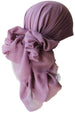 Deresina Four Seasons Plain Square Chemo Headscarf Lila Linen Texture