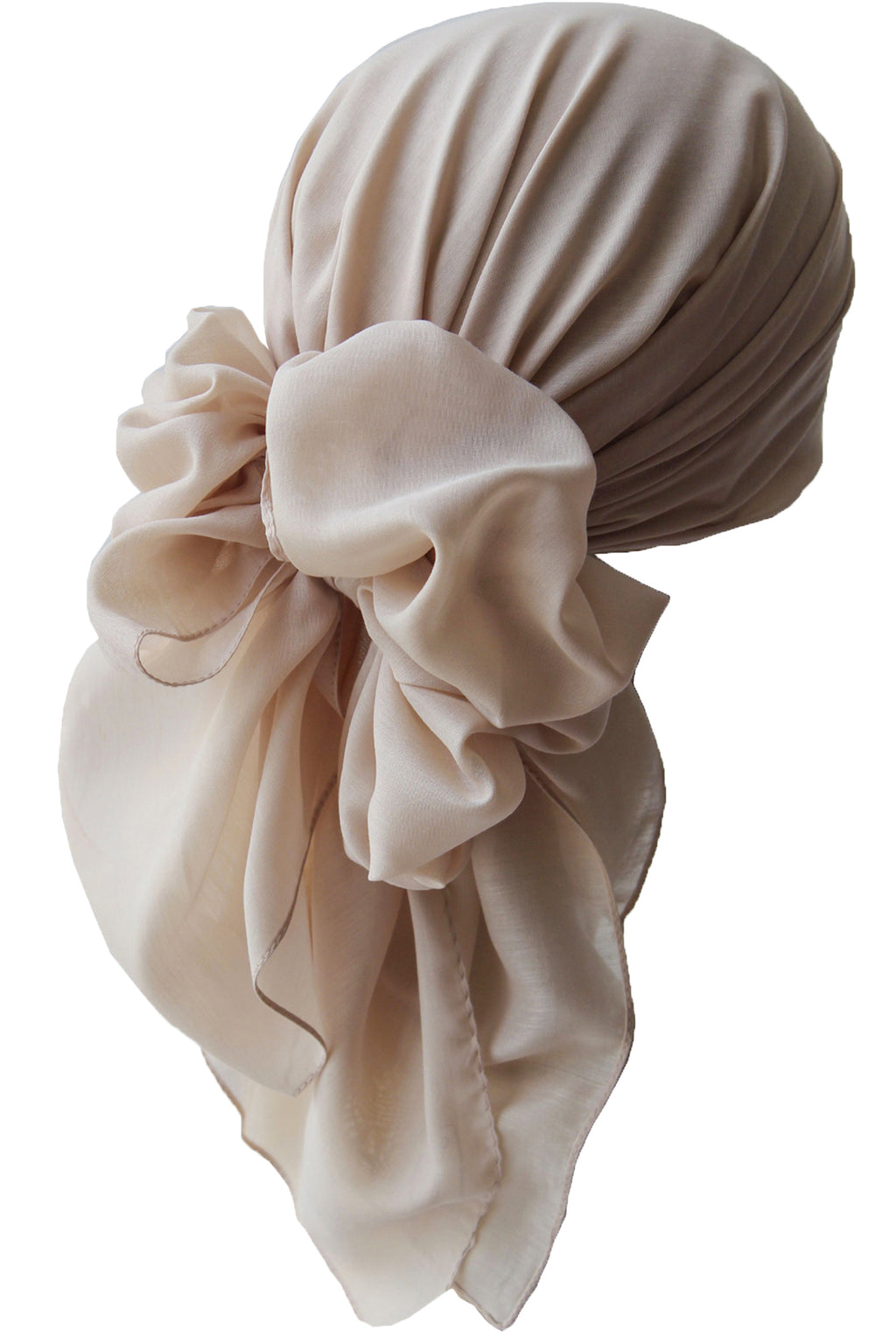 Everyday Square Head Scarf - Plain Silky Beige