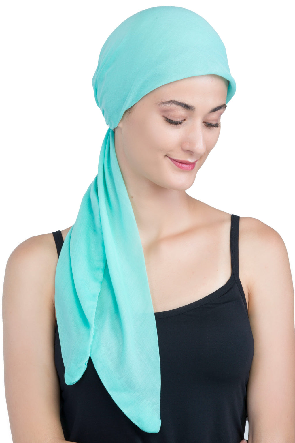 Easy Tie Organic Head Scarf - Spring Green