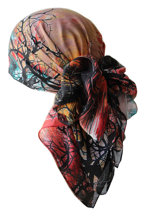 Everyday Square Head Scarf - Twilight TW105