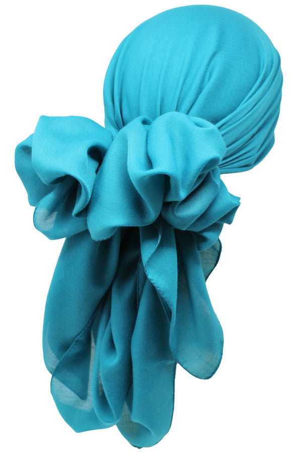 Bamboo Square Scarf - Teal
