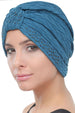 Deresina Beaded w turban for hairloss teal