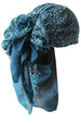 Everyday Square Head Scarf - Teal Animal Print