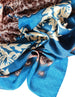 Large Square Head Scarf  - Teal Mink