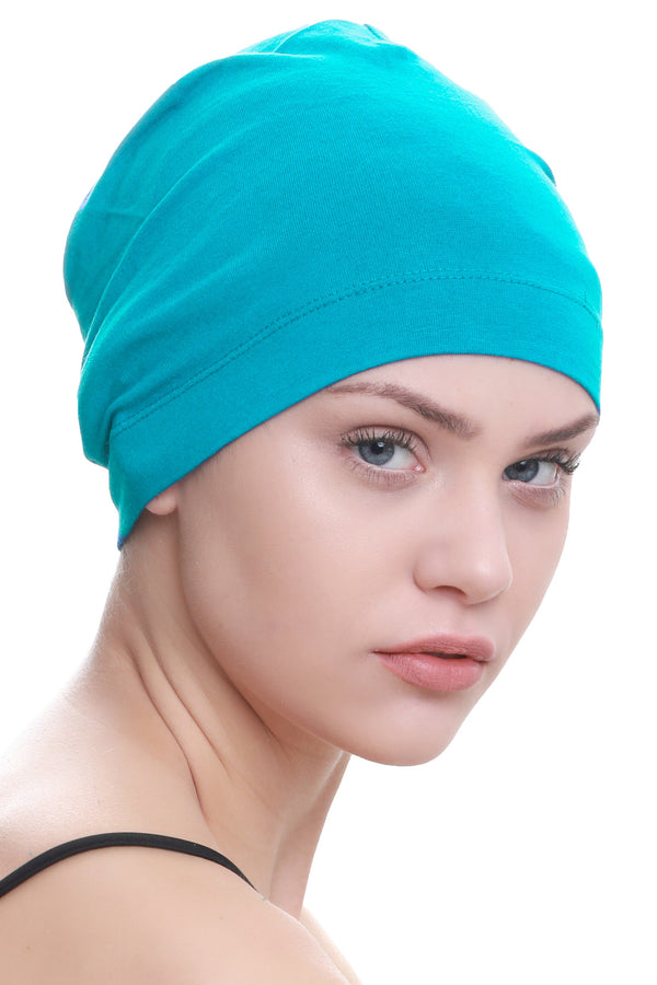 Deresina Unisex chemo sleep cap tiffany green