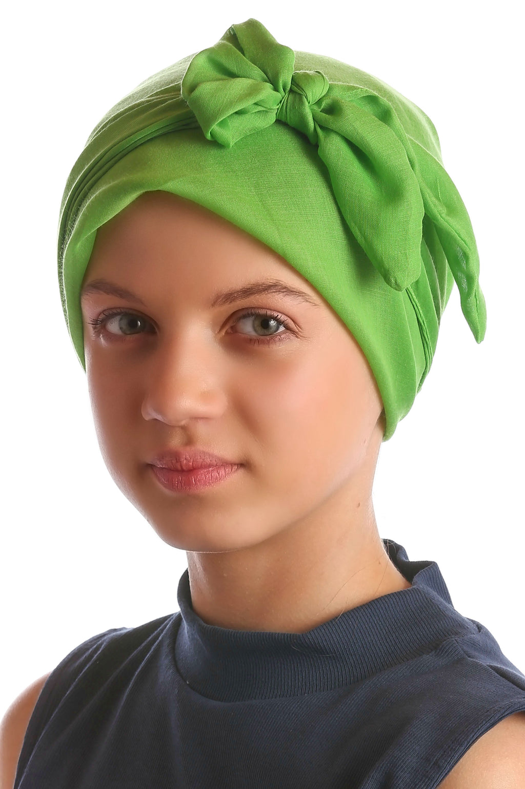 Easy Tie Head Scarf for Girls - Apple Green