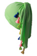 Deresina no tie bandana for teen apple green with tassel