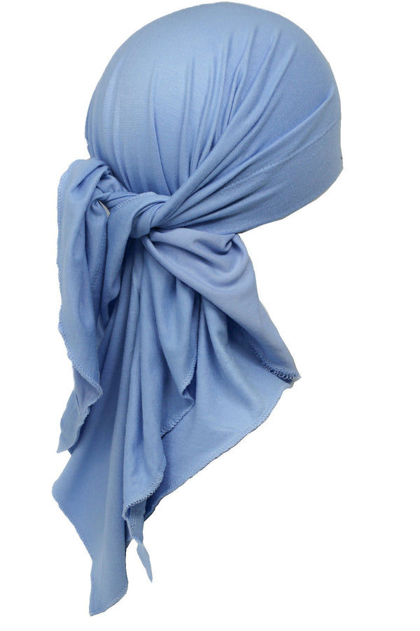 Deresina Large Cotton chemo bandana for men sky blue