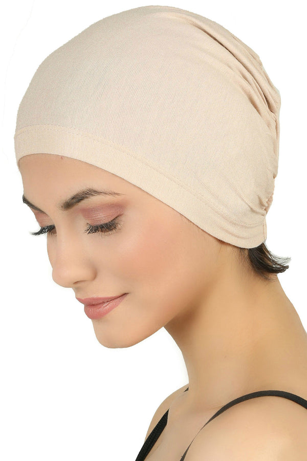 Essential Plain Cotton Cap - Beige