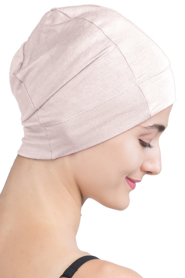 Snug Fit Sleep Cap - Beige