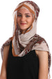 Long Oversize Crepe Scarf For (67cmx1.70cm) - Beige