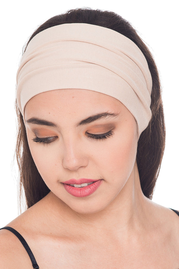 Plain Headband - Beige