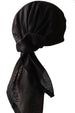 Easy Tie Head scarf  (Plain Black)