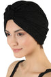 Brocade W Pattern Turban  - Black