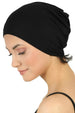 Essential Plain Cotton Cap - Black