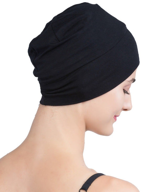 Wrap-fit Sleep Cap - Black