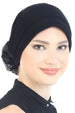 Deresina Padded hat for cancer patients black