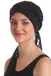 Deresina diamond patterned chemo turban beige cream
