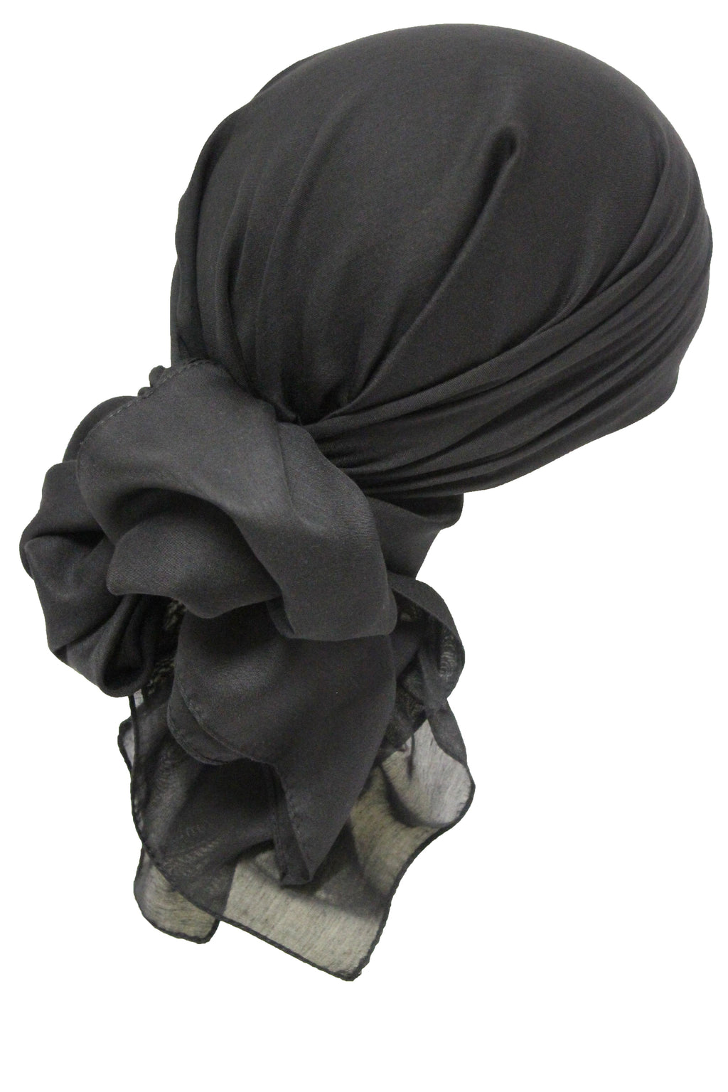 Deresina Everyday square chemo headscarf black