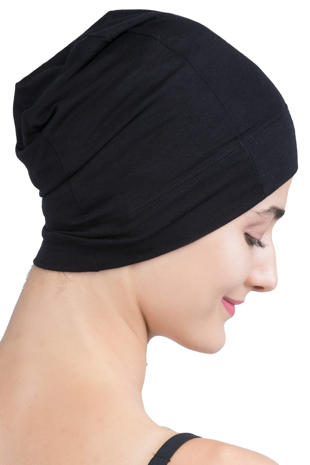 Snug Fit Sleep Cap - Black