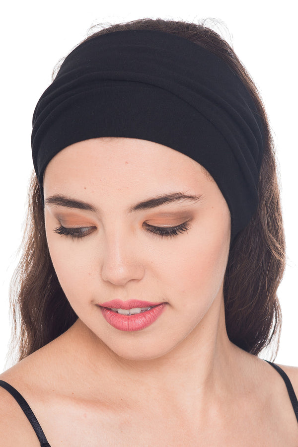 Plain Headband - Black