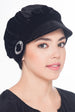 Soft Visor Velour Hat - Black
