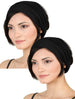 Elasticated Stretchy Headband Set of Two - Black