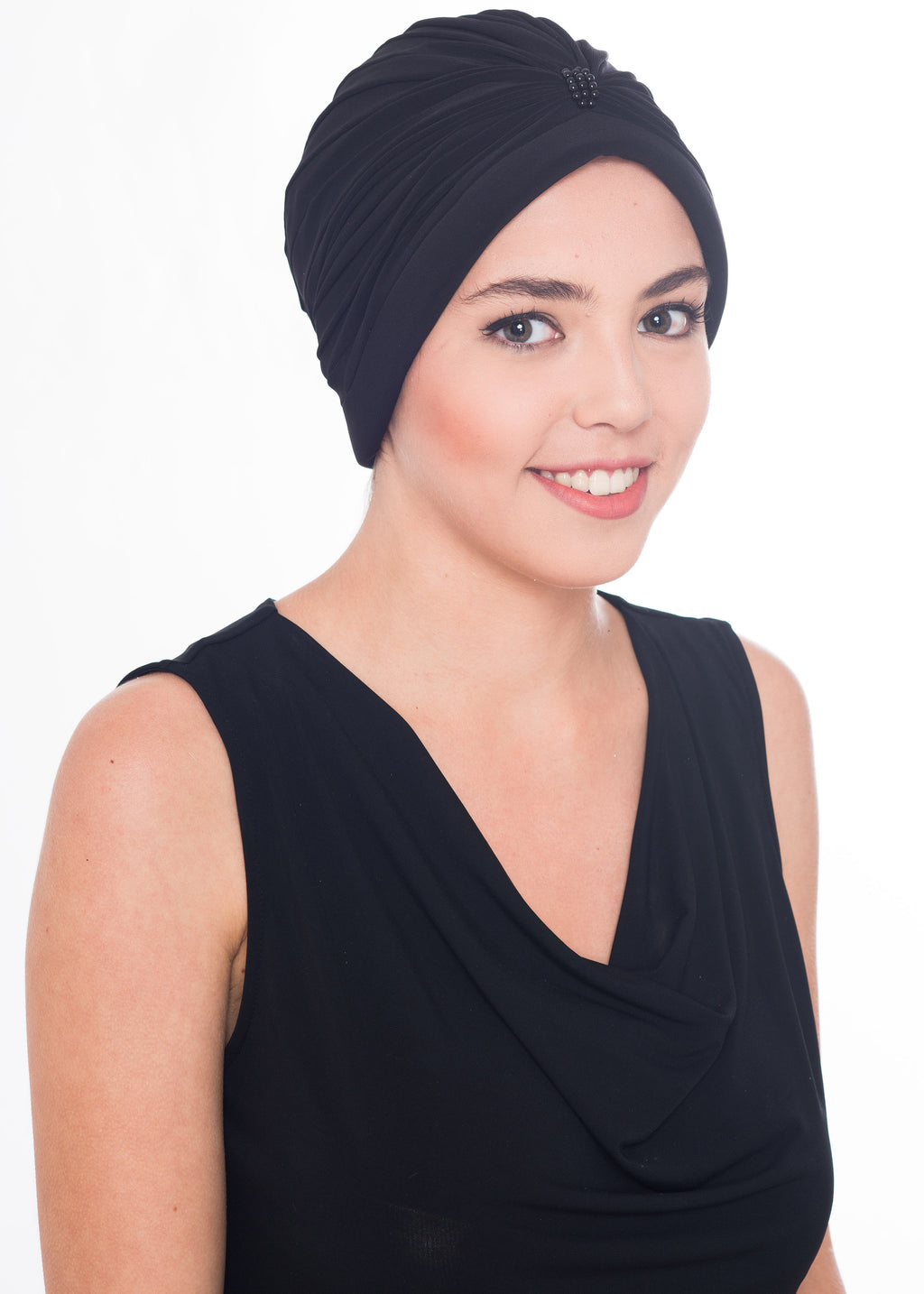Pearl Turban- Black (Exclusive)