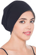Deresina Reversible unisex beanie for hairloss black grey