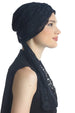 Deresina diamond patterned chemo turban black black