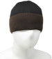Men Knit Hat - Black Brown Full Fleeced Beanie