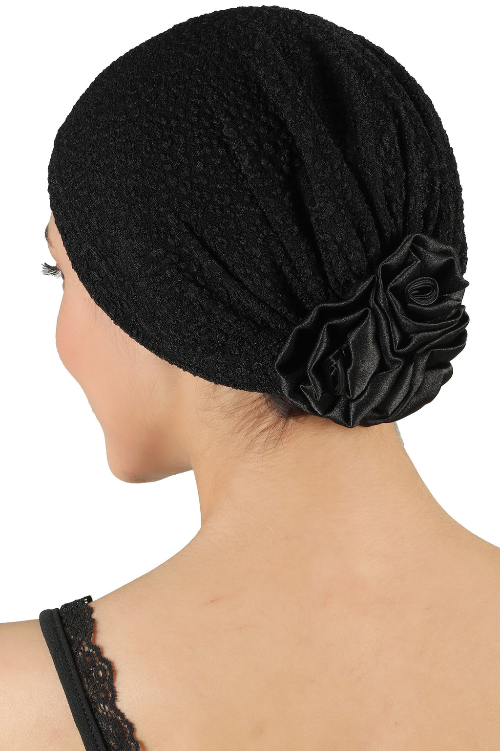 Rose Headwear - Black