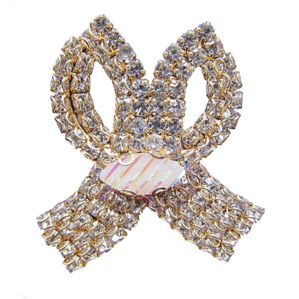 Bow Tie Brooch - Cream