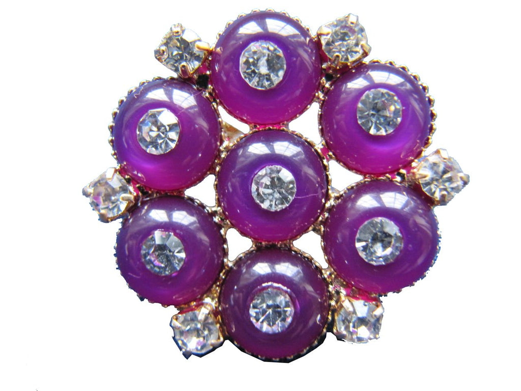 Flower Arrangement Brooch - Mulberry