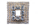 Square Crystal Scarf Pin Brooch