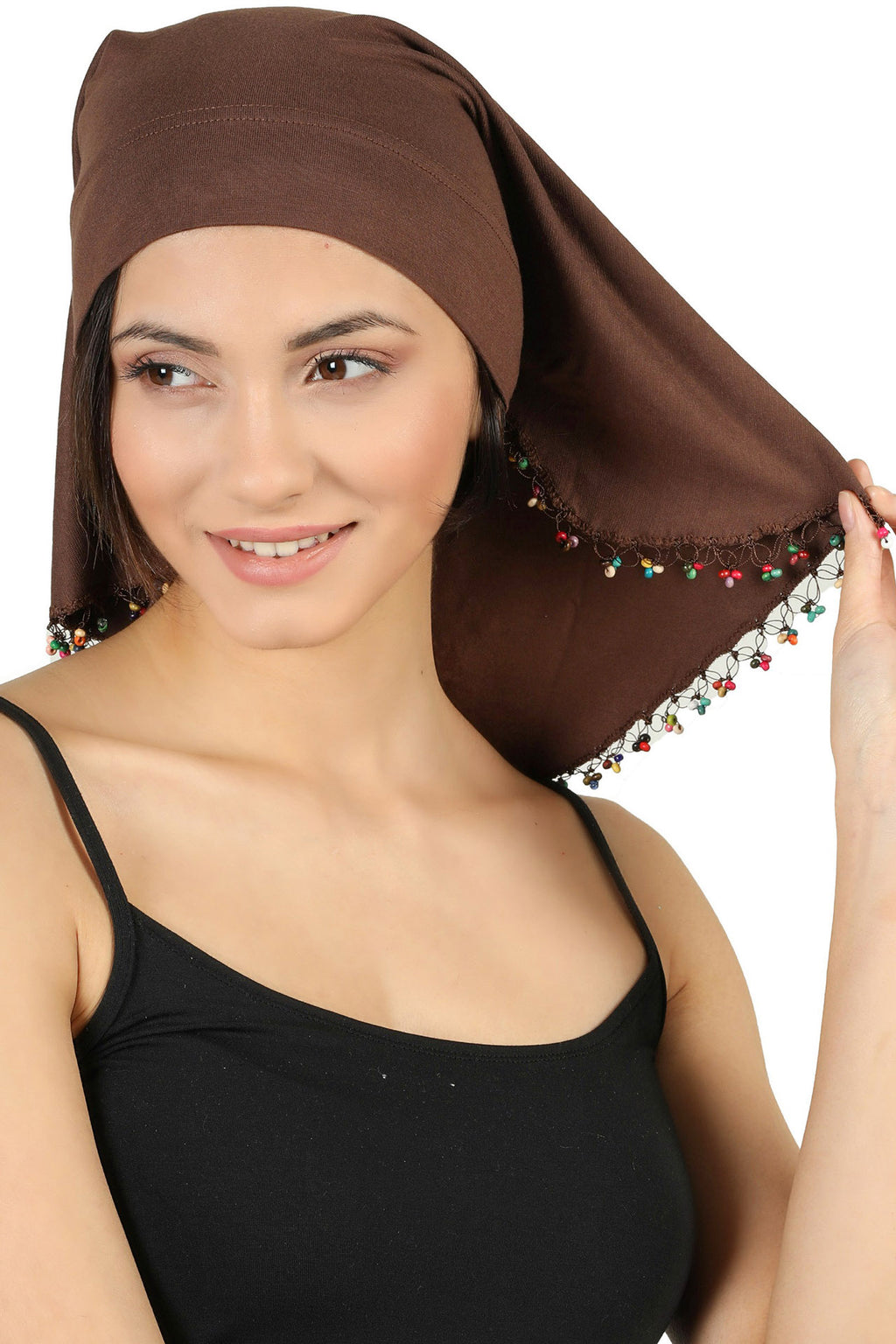 No-Tie Bandana - Brown