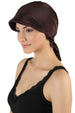 Tie Back Casual Pretty Hat - Brown