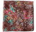Everyday Square Head Scarf - Brown Pink Elderflower