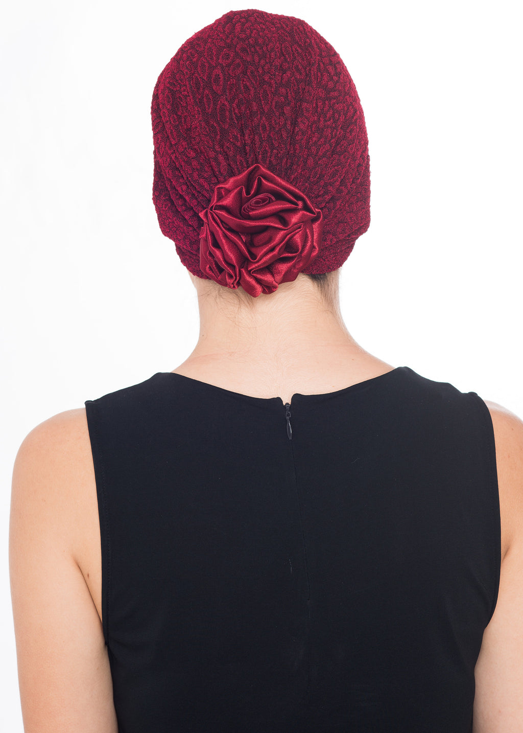 Rose Headwear - Burgundy (Exclusive)