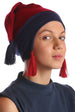 Deresina teen ear flap beanie for hairloss burgundy denim