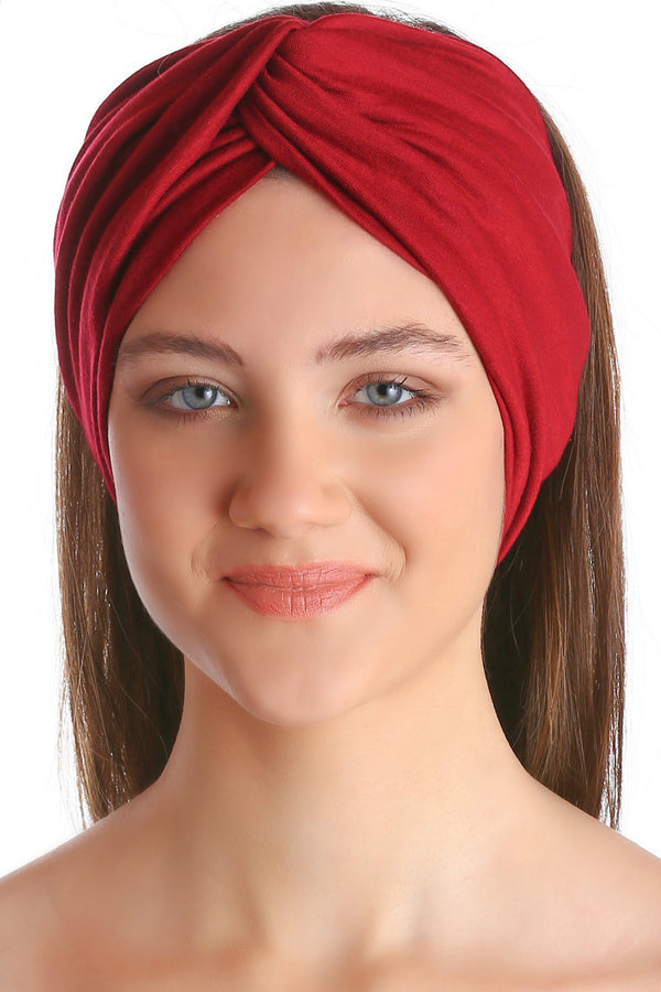 Cross Headband - Burgundy