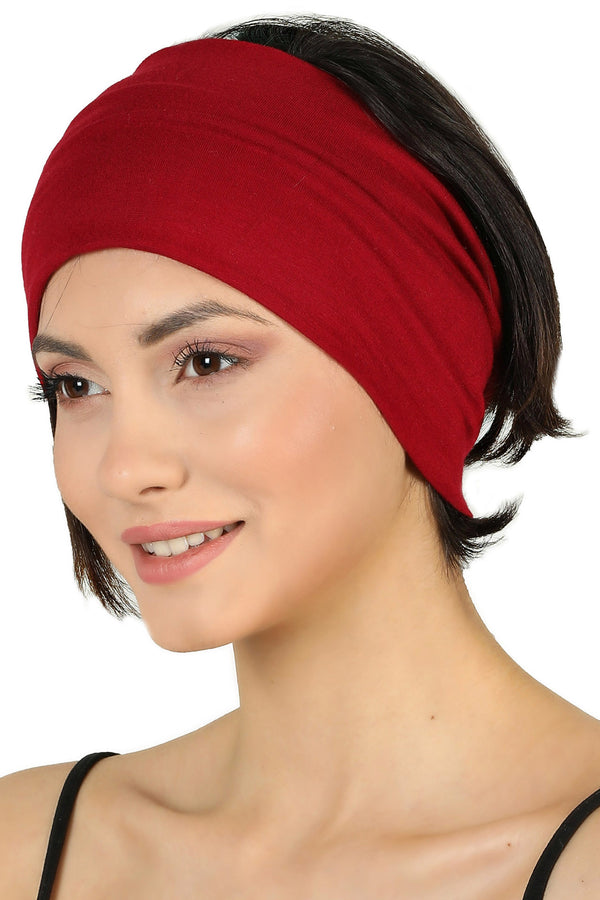 Plain Headband - Burgundy