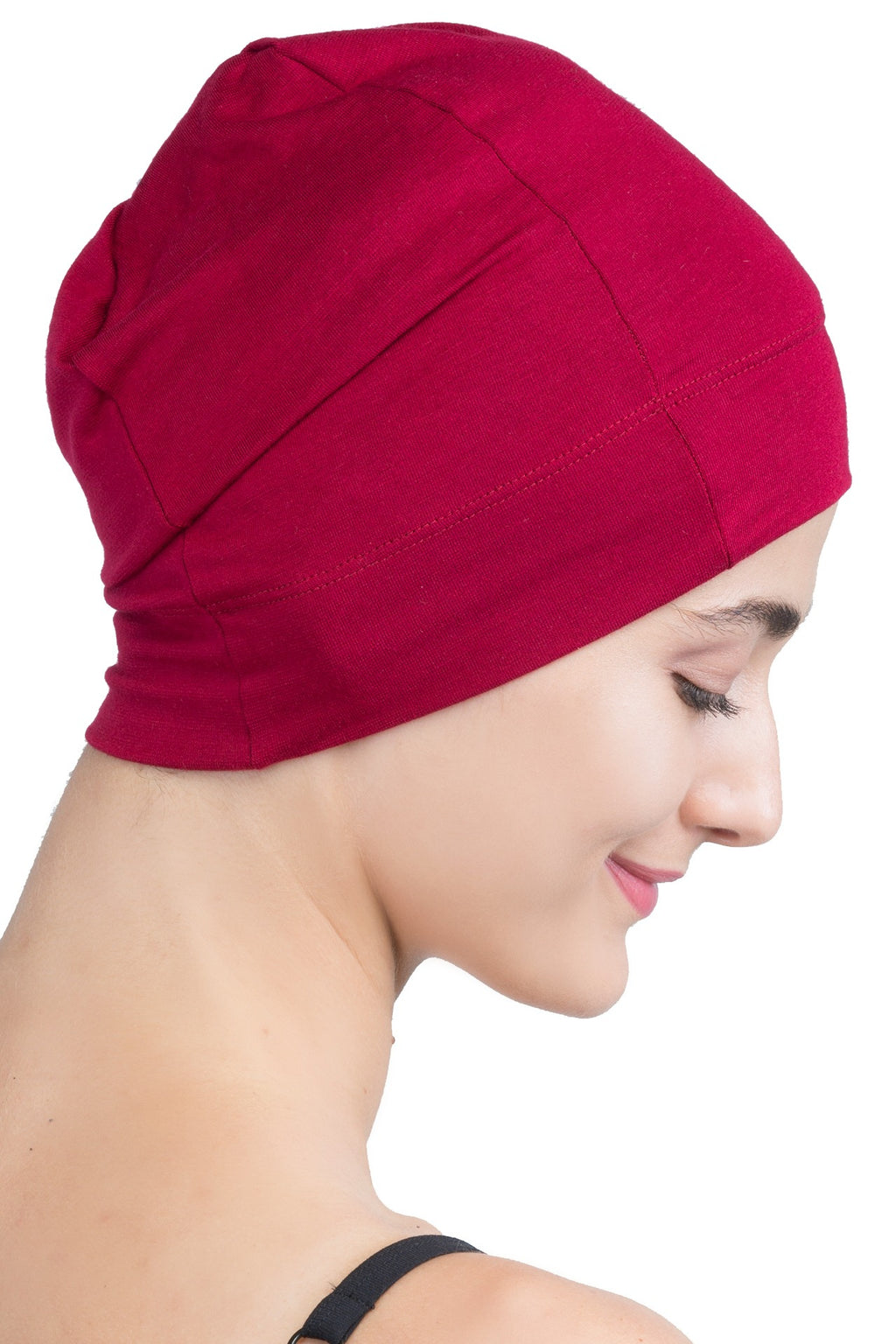 Snug Fit Sleep Cap - Burgundy